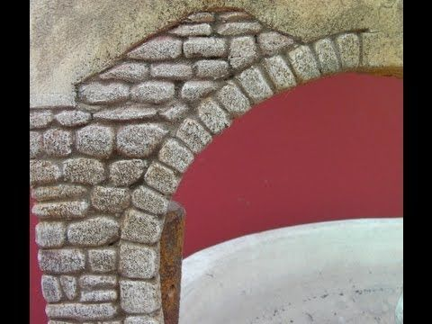 IMITACION DE PARED DE PIEDRA, BELENES - IMITATION STONE WALL FOR BELÉN - YouTube