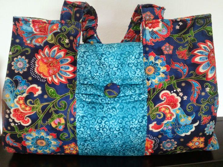 hobby e passioni racchiusi nel mio cassetto: Borsa estiva patchwork - Summer bag patchwork