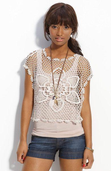 Hooked on crochet: Crochet tops / Blusinhas de crochê