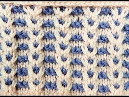Resultado de imagen para chompa tejida a palillos dos colores