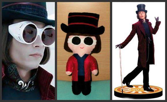 """Boneco inspirado no personagem Willy Wonka, do filme """" A fantástica fábrica de chocolate """".  Em feltro, feito à mão.  NÃO TEMOS PRODUTOS PARA PRONTA ENTREGA  TEMPO DE CONFECÇÃO DE: ATÉ 15 DIAS (PARA PAGAMENTO DEPOSITO EM C/C)  ATÉ 25 DIAS ( PARA OUTRAS FORMAS DE PAGAMENTO)   Avaliação:  Adriana """"Amei as peças! Definitivamente, são ainda mais """"fofas"""" que nas fotos. E a vendedora é super flexível (fez um Michael que não estava na galeria de fotos) e detalhista (ligou para saber se eu o…"""