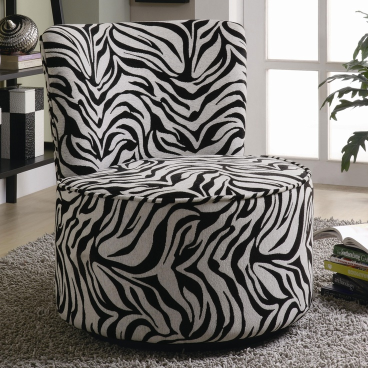 zebra print bedroom furniture. Exotic Zebra Stripes Fabric Accent Seating Round Swivel Chair By Coaster Print Bedroom Furniture