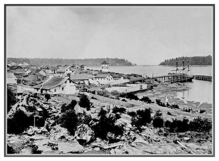 Nanaimo in its earliest days, ca1870s.