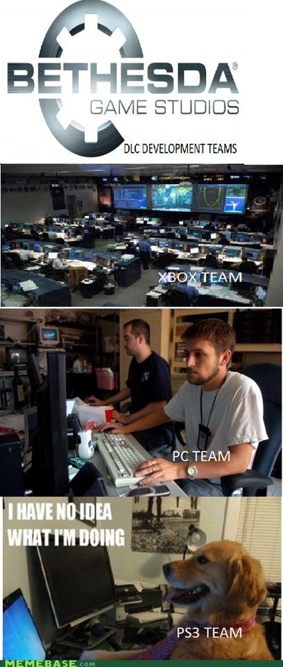 Bethesda DLC Development Teams: Videos Games, Bethesda Dlc, Games Lulz, Videogames, Games Memes