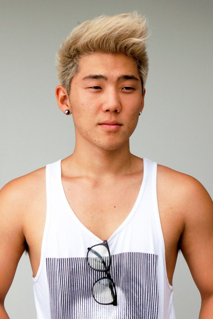 Asian man and blonde