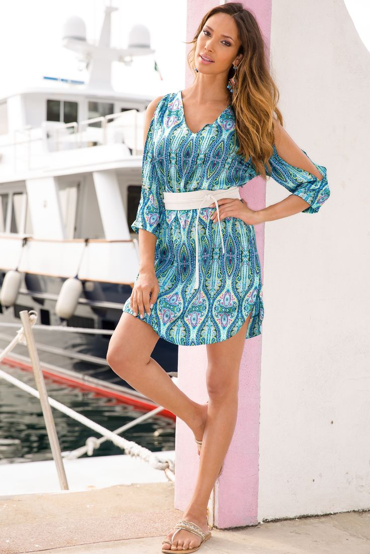 Intricate hourglass dress #BostonProper #SummerFashion #Prints
