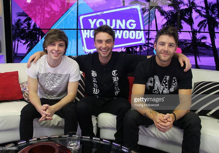 Keaton Stromberg, Wesley Stromberg and Drew Chadwick from Emblem3 at the Young Hollywood Studio on March 2, 2016 in Los Angeles, California. (Photo by Mary Clavering/Young Hollywood/Getty Images).