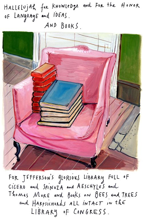 Maira Kalman on Identity, Happiness, and Existence | Brain Pickings  She marries words to paintings or drawings