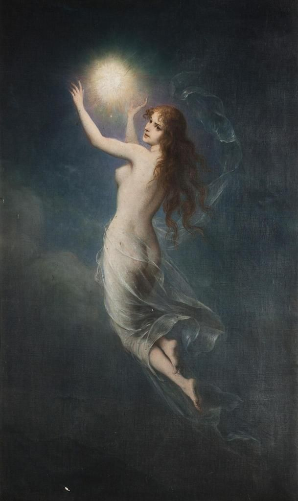 Carl Schweninger (1854-1903) - The Morning Star and the Moon. S)