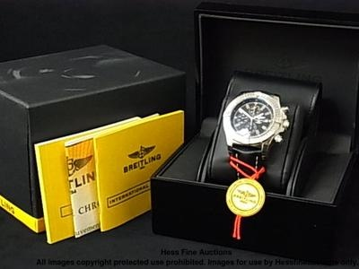 A13370 Breitling Super Avenger Chronograph Mens Watch Box & Papers: Watches Boxes, Men'S Watches, Fine Watches, Men Watches