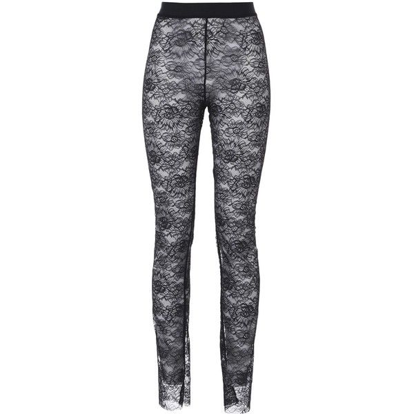 Wolford Leggings ($315) ❤ liked on Polyvore featuring pants, leggings, black, legging pants, wolford leggings, transparent leggings, slimming leggings and lace leggings