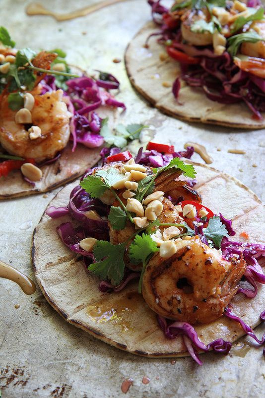 Thai Shrimp Tacos by heatherchristo #Tacos #Shrimp #Thai