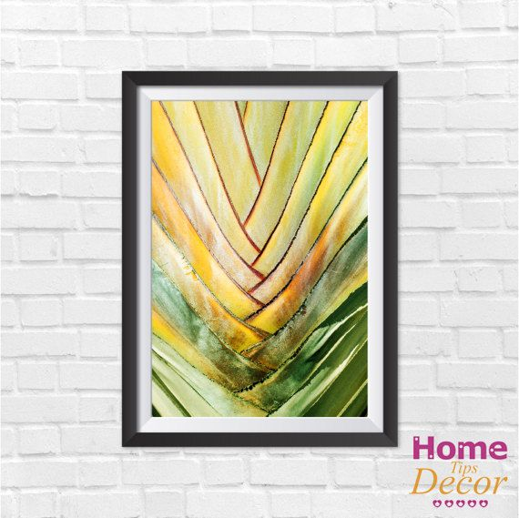 Palm leaf palm print palm leaf print leaf print by HomeDecorTips