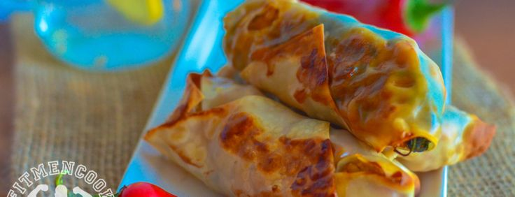 Spicy Turkey & Spinach Egg Rolls (Video) | Fit Men Cook