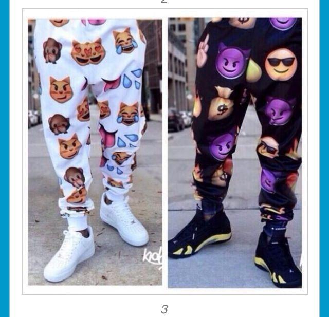 Emoji pants | Best dress | Pinterest | Pants and Love