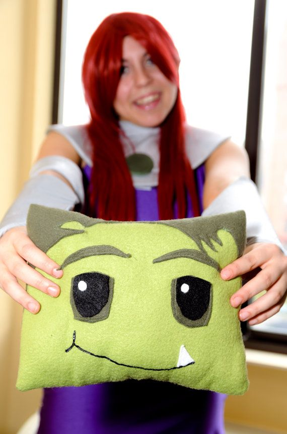 Teen Titans Animated Series Pillow by CollierCostuming on Etsy, $30.00