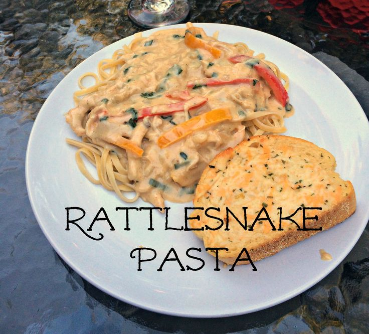Rattlesnake Pasta {with no snakes I promise!}