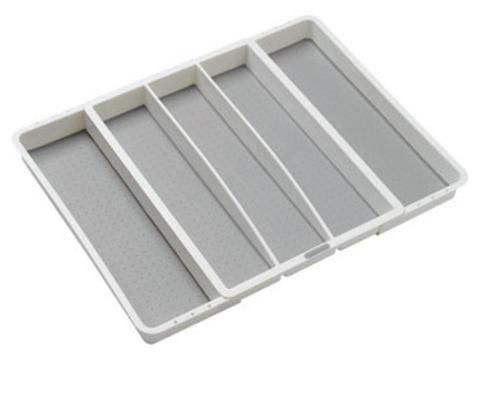 Madesmart 29305 Expandable Utensil Tray, White