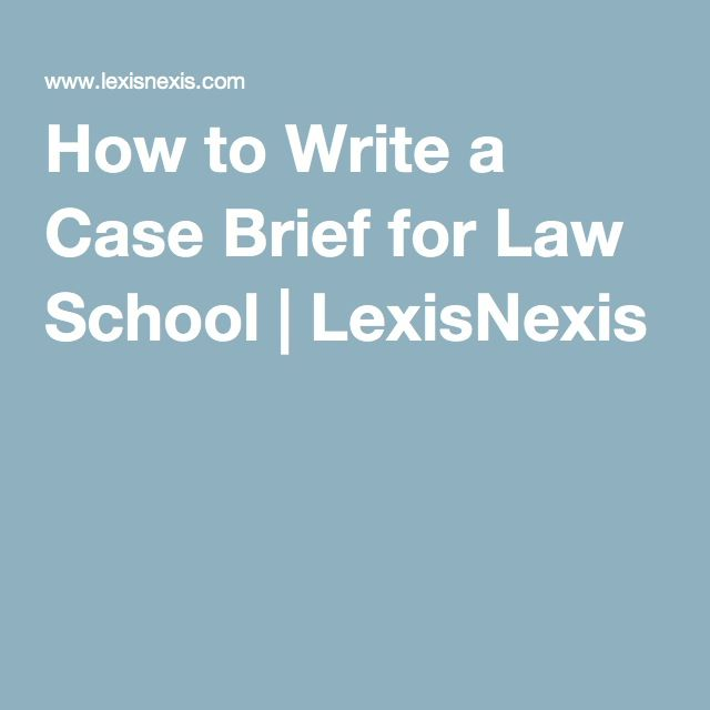 How to Write a Legal Brief