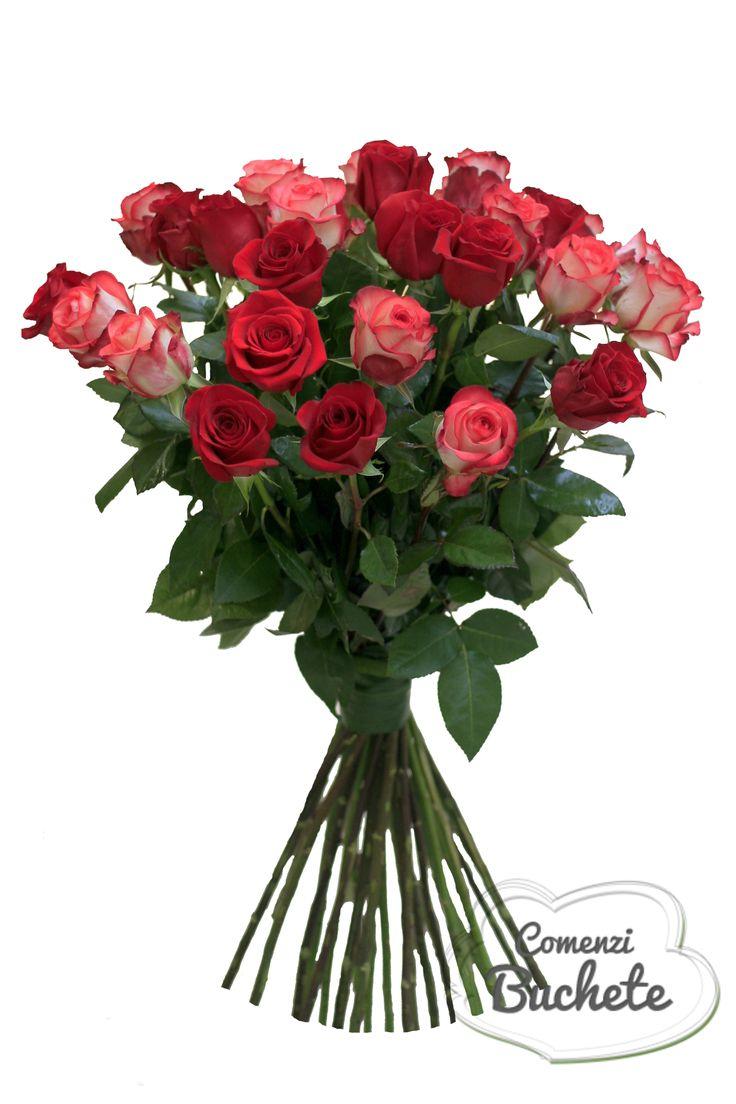 Buchet din 31 de trandafiri. Simplu si elegant.