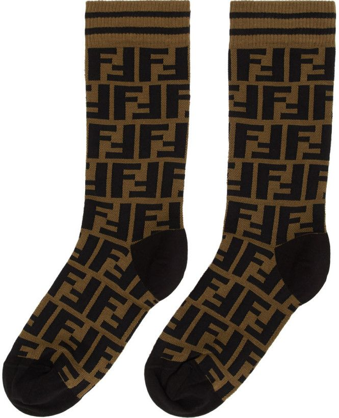 99eaf03e3acb8 Fendi Brown Forever Short Socks in 2019 | Fashion Accessories ...