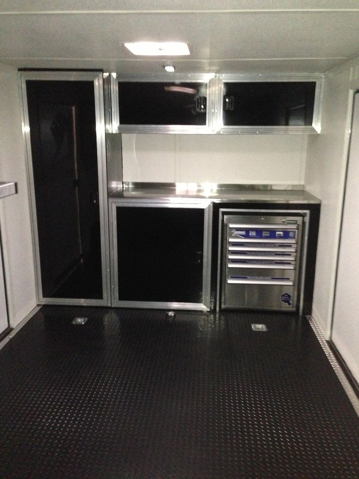 Race Trailer Cabinets Work Pinterest Enclosed