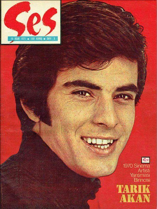 """(1970) Ses Dergisi Sinema Yarışması Birincisi: """"Tarık Akan"""" #birzamanlar #istanlook #nostalji"""