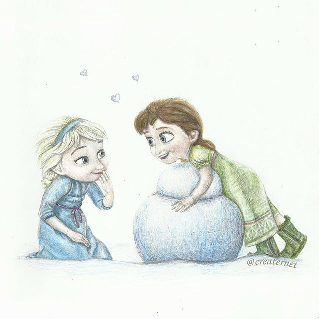 esa sketches frozen anna and sisters - photo #22