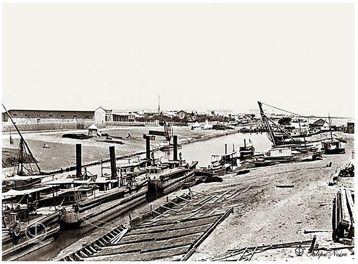 Ismailia City; Freshwater Canal supplying Ismailia & Suez -1871 , #Egypt
