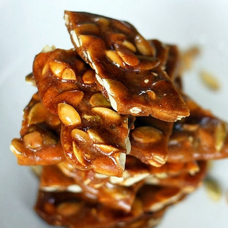 Spiced Pumpkin Seed Brittle Recipe Desserts with butter, sugar, honey ...