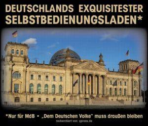 """❌ Das weibische Gezänk um die Sitzordnung im Bundestag war in den letzten Wochen kaum zu überhören. Viel zu wenig Beachtung in der öffentlichen Wahrnehmung fand dabei das Thema des """"Sitz-Sharing"""". Statt den pragmatischen Einwendungen der Handwerker zu folgen, wird das Plenum nunmehr mit knapp 80 zusätzlichen - extrem teuren - Sitzgelegenheiten ausgestattet. Selbiges sogar mit dem Hintergrundwissen, dass der Bundestag diesbezüglich nur ganz selten voll ausgelastet ist. ❌"""