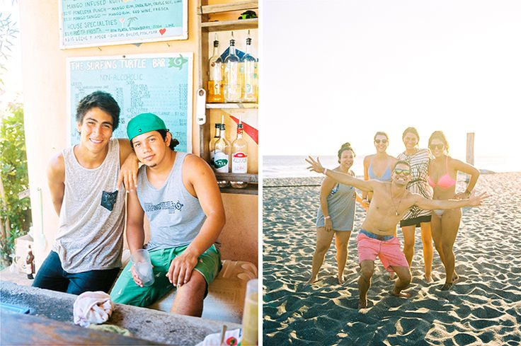 Volunteers and guests at Surfing Turtle Lodge in Nicaragua by Toronto Travel Film Photographer