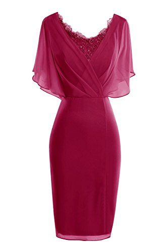 ORIENT BRIDE Modern Scoop Short Sleeve Sheath Mother of t...