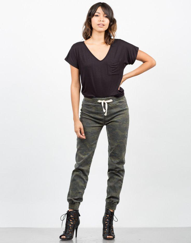 Camo Jogger Pants - Army Pants - Green Pants – Bottoms – 2020AVE