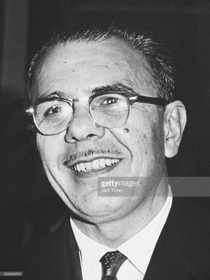 Portrait of mob boss Angelo Bruno, Philadelphia, Pennsyvlania, 1960.