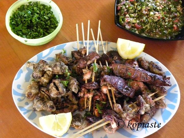 Τουρκάκια  http://www.kopiaste.info/?p=11091  Tourkakia (grilled offals) http://kopiaste.org/2013/05/tourkakia-grilled-offals/