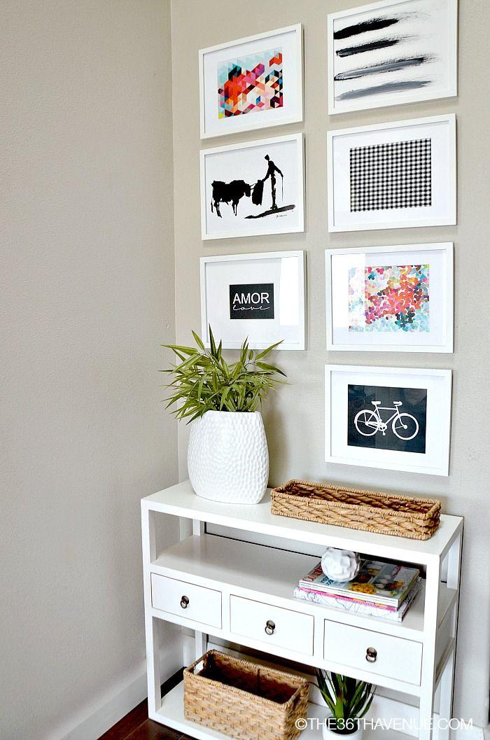 Mais uma ideia de como pôr quadros na parede