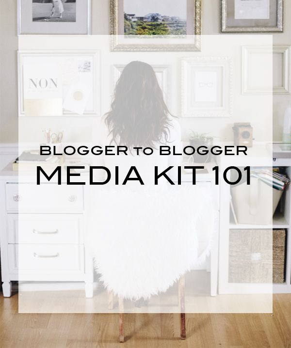 Blogger to Blogger   Media Kit 101 #creativebiz #biz #marketing #business