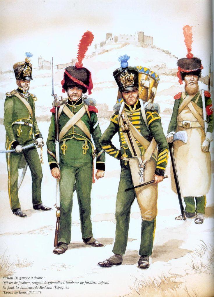 Nassau infantry serving in Spain