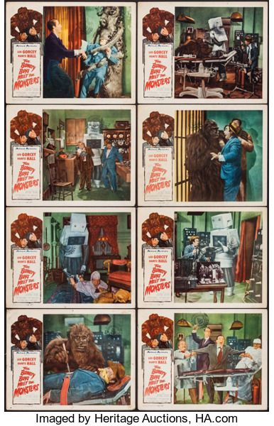 """Movie Posters:Comedy, The Bowery Boys Meet the Monsters (Allied Artists, 1954). LobbyCard Set of 8 (11"""" X 14""""). Comedy.. ... (Total: 8 I..."""
