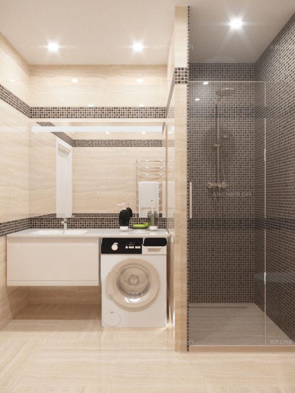 Interior design by VITTAGROUP Дизайн квартиры в ЖК Смежный Ванная комната Елена Пономаренко