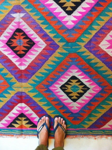 Love A Brightly Colored Dhurrie Rug Just The Right Thing