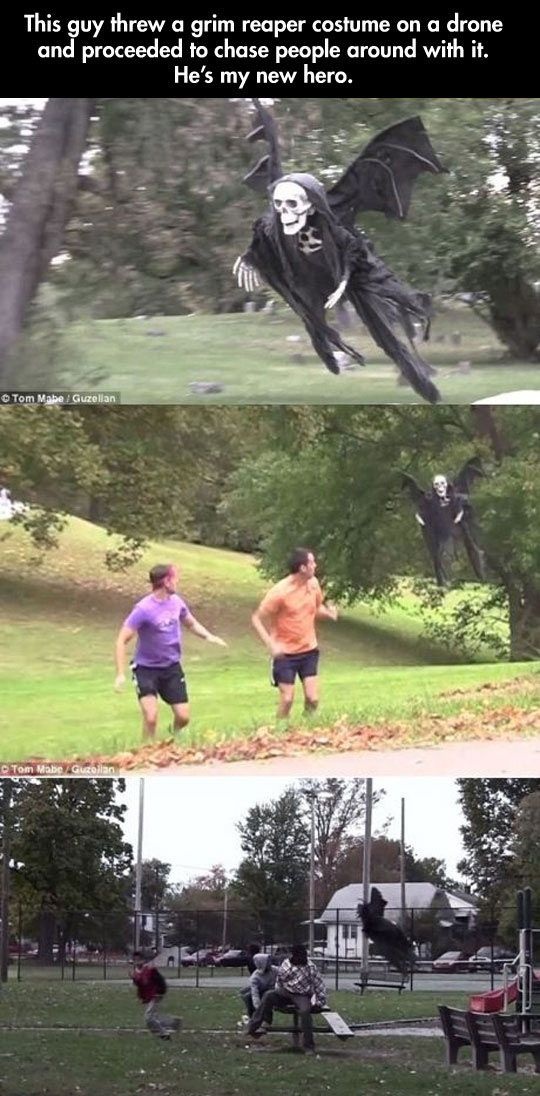 funny-grim-reaper-costume-over-drone-scaring-people