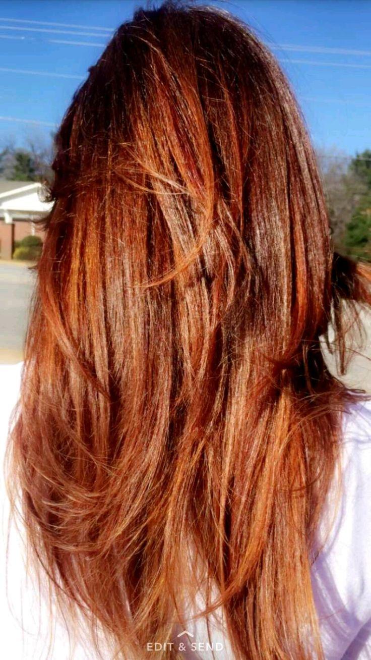 Auburn hair with copper highlights | Hair | Pinterest ...