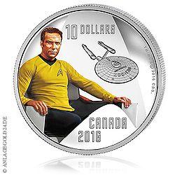 Captain Kirk aus Star Trek - Münze ( Silber )