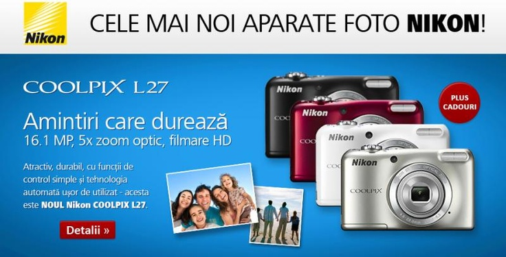 Cumpara un Nikon Coolpix L27 la cel mai mic pret de pe Evomag.ro | Zgarciti.ro - Comunitatea Zgarcitilor din Romania