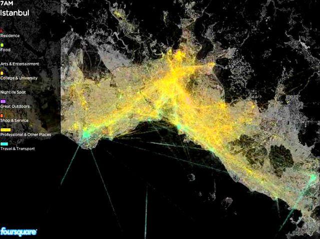 Foursquare İstanbul'un Haritası'nı Çıkardı!