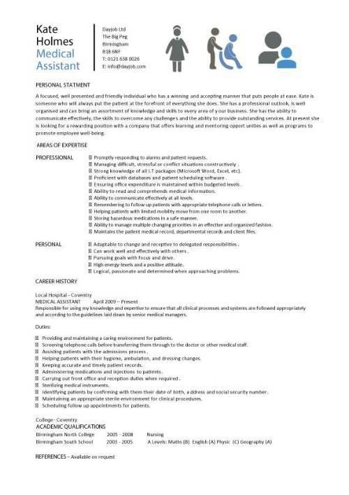 8 best images about Resume on Pinterest Resume writing, Medical - physician resume