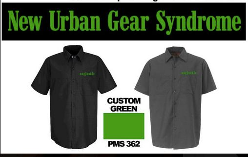 New Urban Gear Syndrome short sleeve button up nugjunkie work shirts 50.00