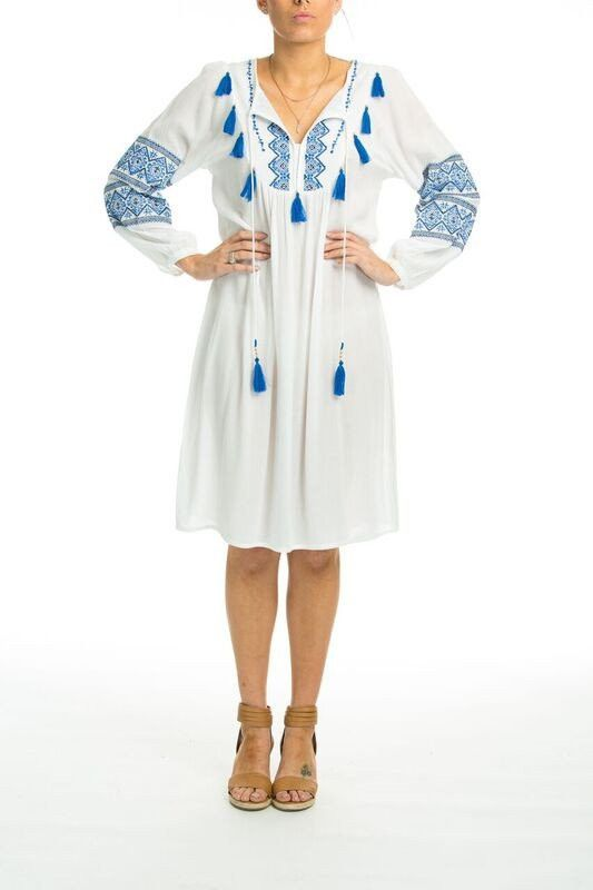 TheSwankStore - Bandrea - Boho Dress With Long Sleeves